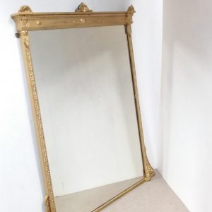 Antique 19th Century Large Overmantle Mirror