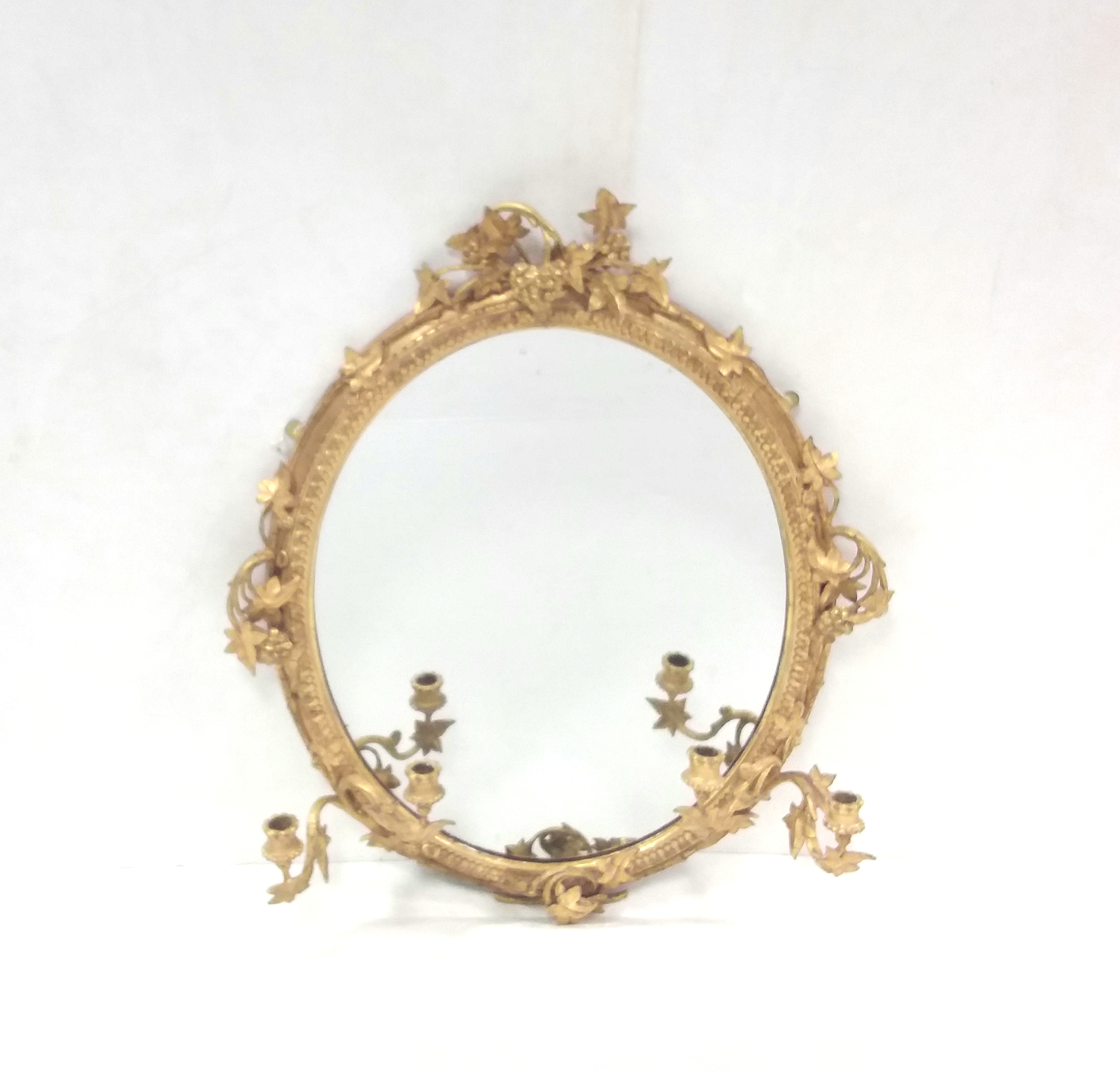 Antique 19th Century Gilt Girandle Mirror