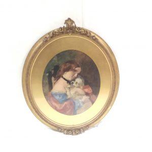 Antique Victorian Gilt Framed Portrait