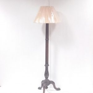 Antique Style Walnut Carved Standard Lamp