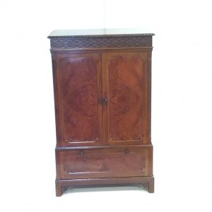 Antique Style Burr Walnut Cabinet