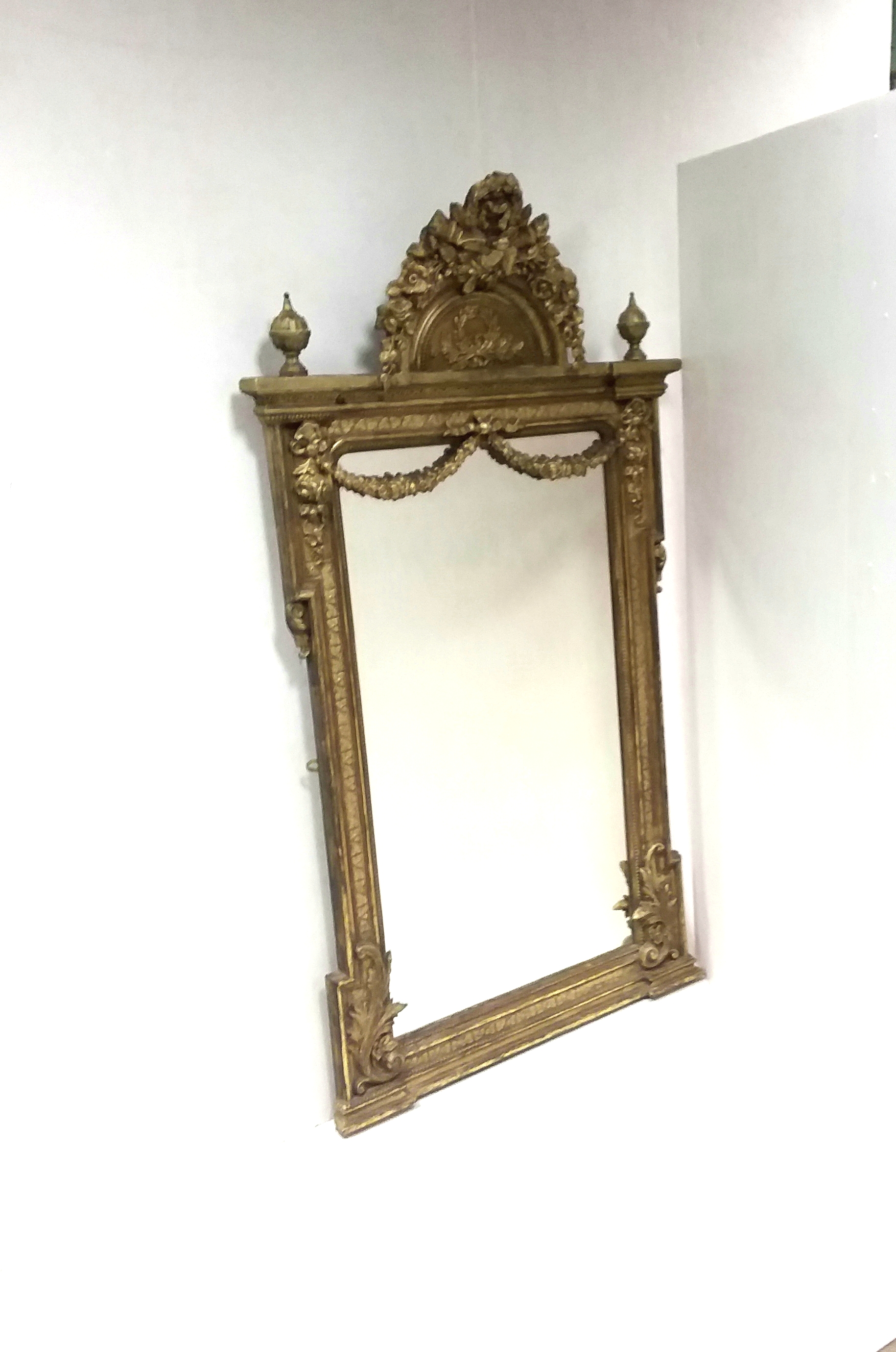Antique Early 19th Century Pier Mirror