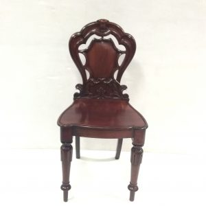 Victorian- mahogany- hall- chair