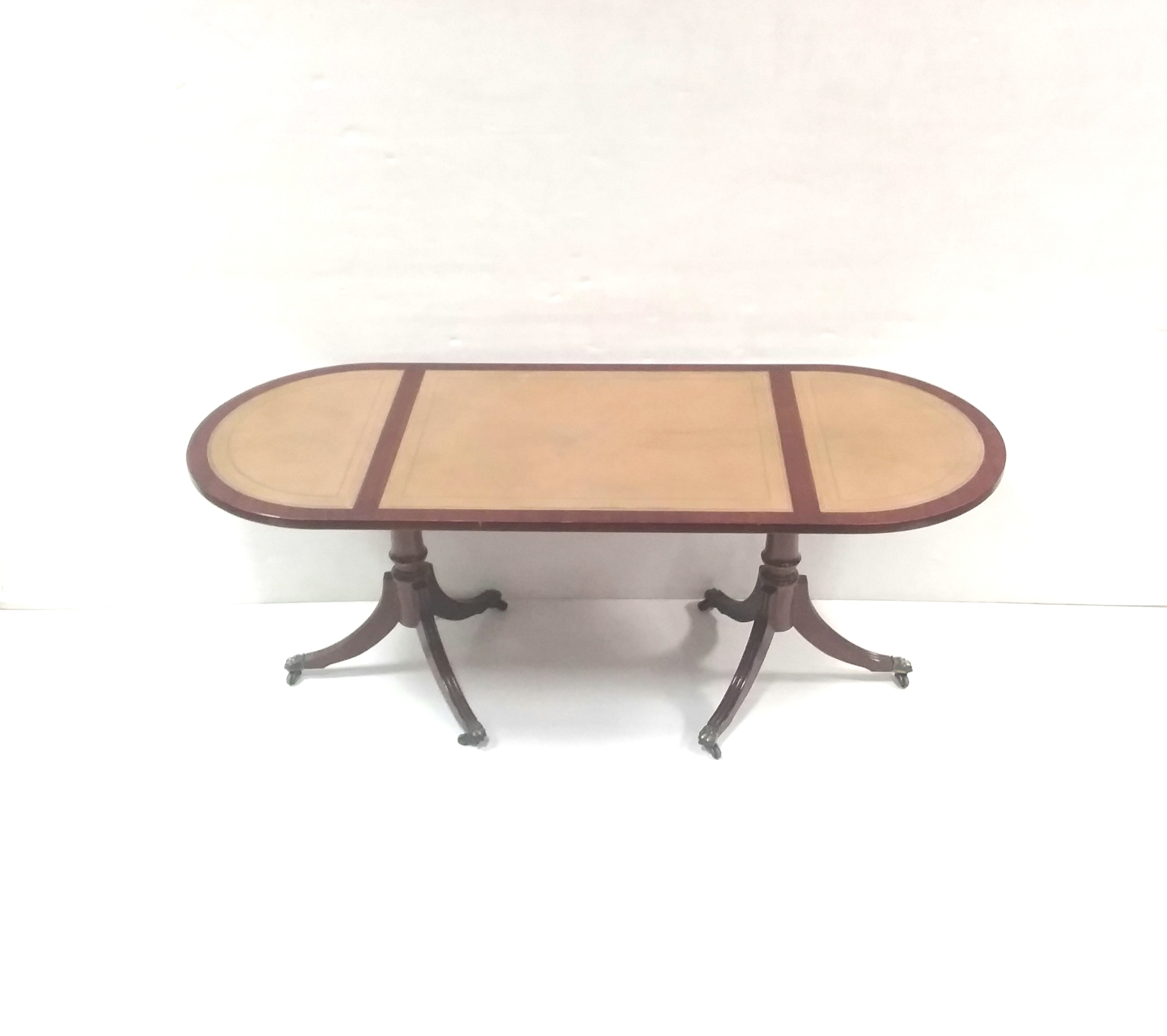 - Antique Style Leather Top Oval Coffee Table – Reilly Antiques