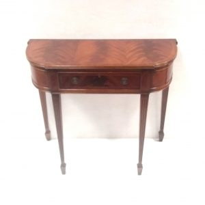 Antique Style Mahogany Breakfront Console Table .
