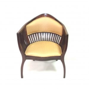 Ms 16415 Edwardian inlaid mahogany  upholstered tub chair €550