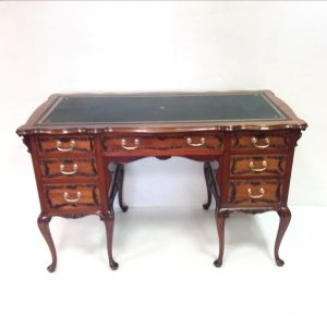 Victorian mahogany leather top lady's writing desk