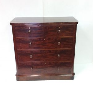 Ms 16458 early 19c mahogany 2 over 3 chest of drawers irish made  €1595