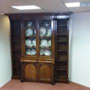 Victorian- mahogany- breakfront- bookcase