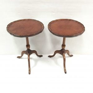 Antique Style pair of Walnut Wine Tables