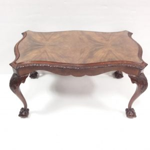 Antique Style Walnut Shaped Coffee Table