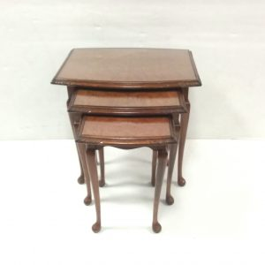 Antique Style Nest of 3 Walnut Tables