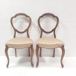 Antique Pair of Victorian Walnut Chairs