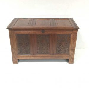 Oak Carved Coffer Blanket Box