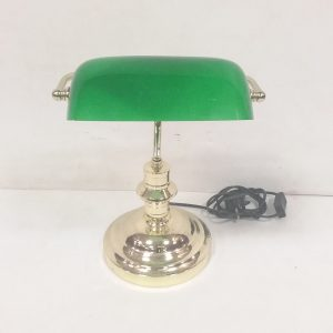 Brass Bankers Lamp