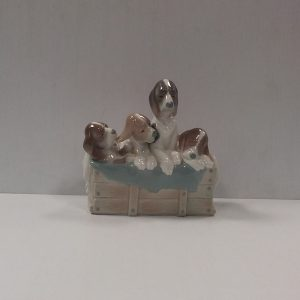 Lladro Figure of 4 Dogs