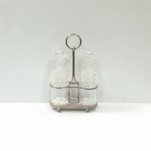 Silver Plated 2 Decanter Tantalus