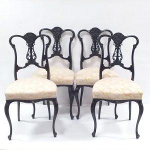 Victorian- mahogany- chairs