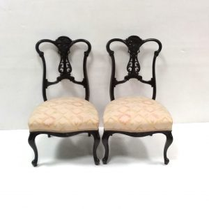 Pair- of- Victorian -mahogany - bedroom -chairs
