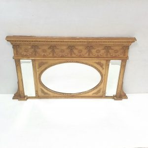 Edwardian- gilt -overmantle- mirror