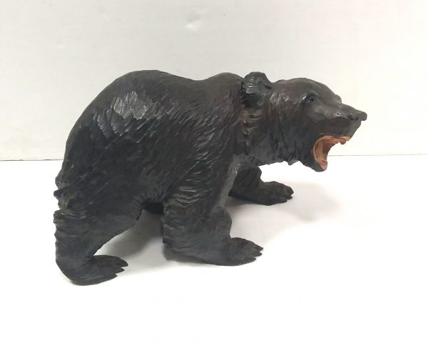 Carved Wooden- Black -Forest- Style- Bear