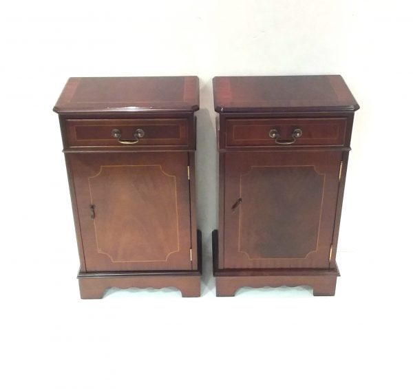 Pair of Mahogany Lockers