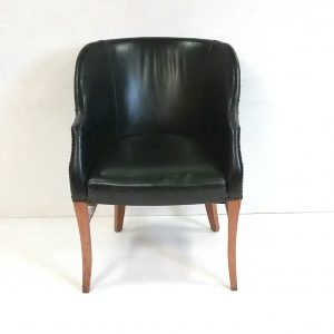 Antique- Style- leather -desk- chair
