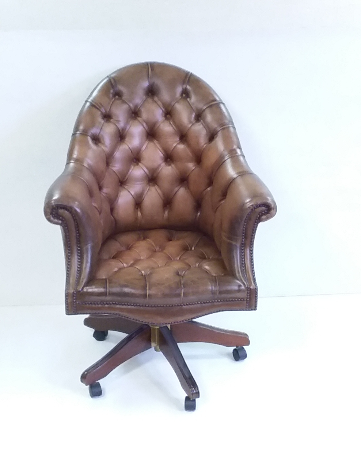 Antique Style Leather Desk Chair Reilly Antiques