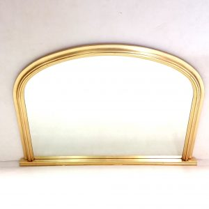 Antique- Style- Gilt- Overmantle- Mirror
