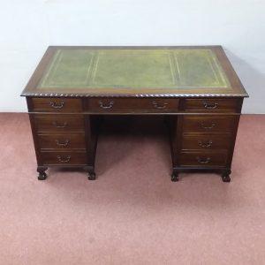 Antique Style Twin Pedestal Desk