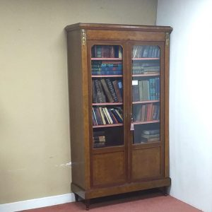 French Burr Walnut Bookcase