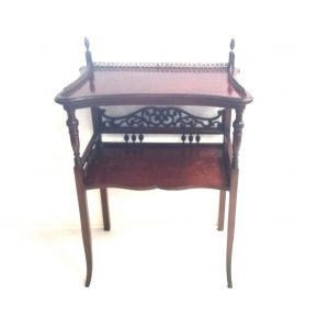 Edwardian- mahogany- side- table- with- brass -gallery