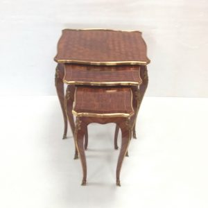 Nest Of 3 parketry ormalu mount tables
