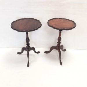 Pair- Of- Mahogany- Wine- Tables