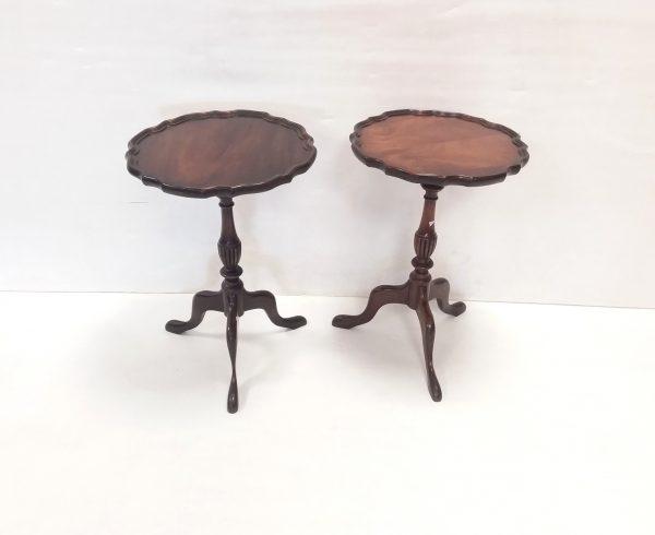 Pair- Of- Mahogany- Wine- Tables