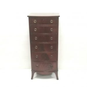 mahogany slimeline- chest- of- drawers