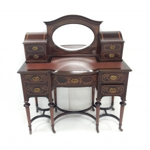 Antique- Edwardian- mahogany- inlaid -desk .