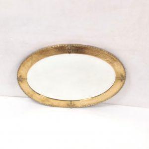 Edwardian Brass Oval Mirror