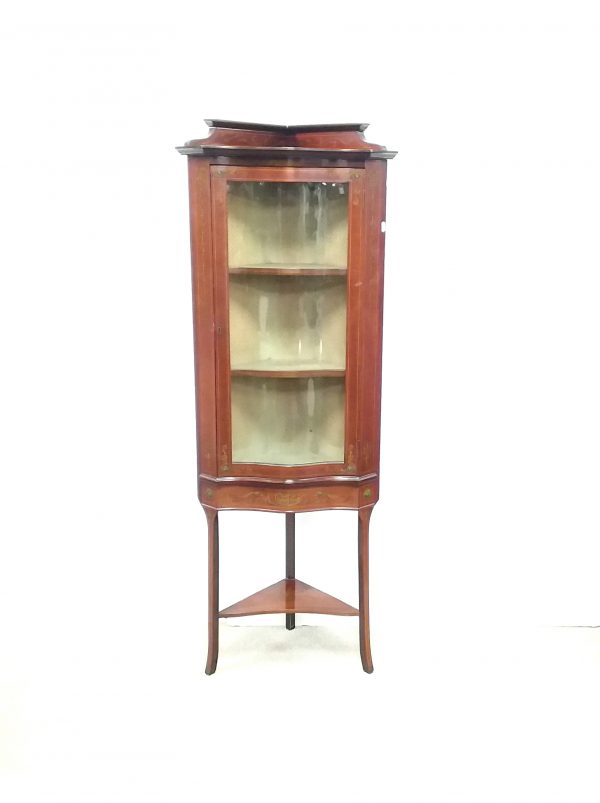 Antique Edwardian Corner Cabinet