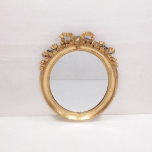 Antique 19th Century Gilt Oval Mirror