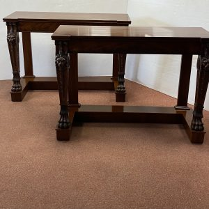 Pair Of 19C Style MahoganyConsole Tables