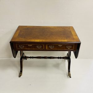 Burr Walnut Sofa Table